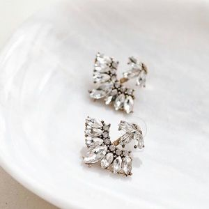 Crystal Fan Shape Earrings